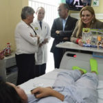 Visita Maru Campos a niños en el Hospital Infantil de Especialidades de Chihuahua